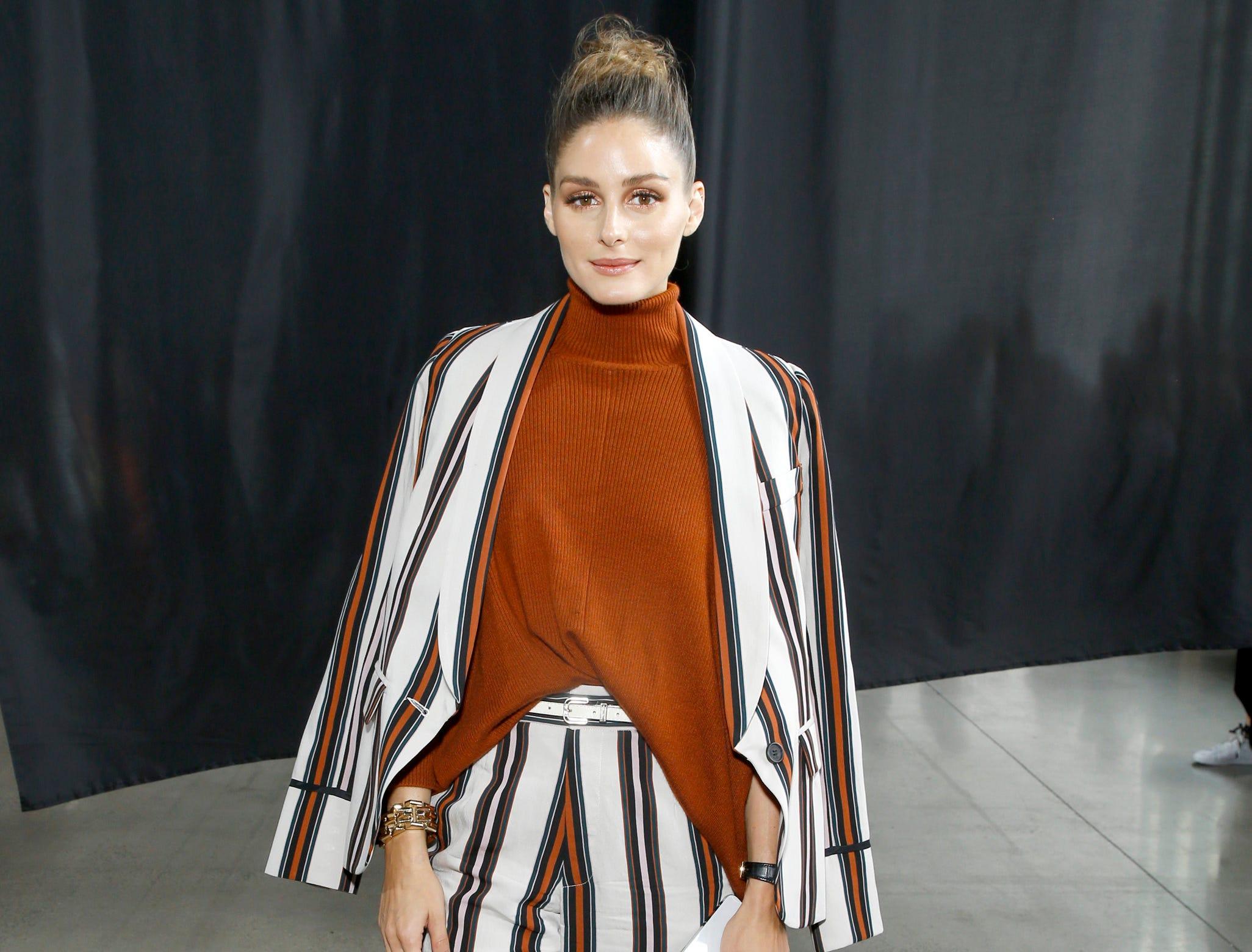Olivia Palermo attended the show's front row.