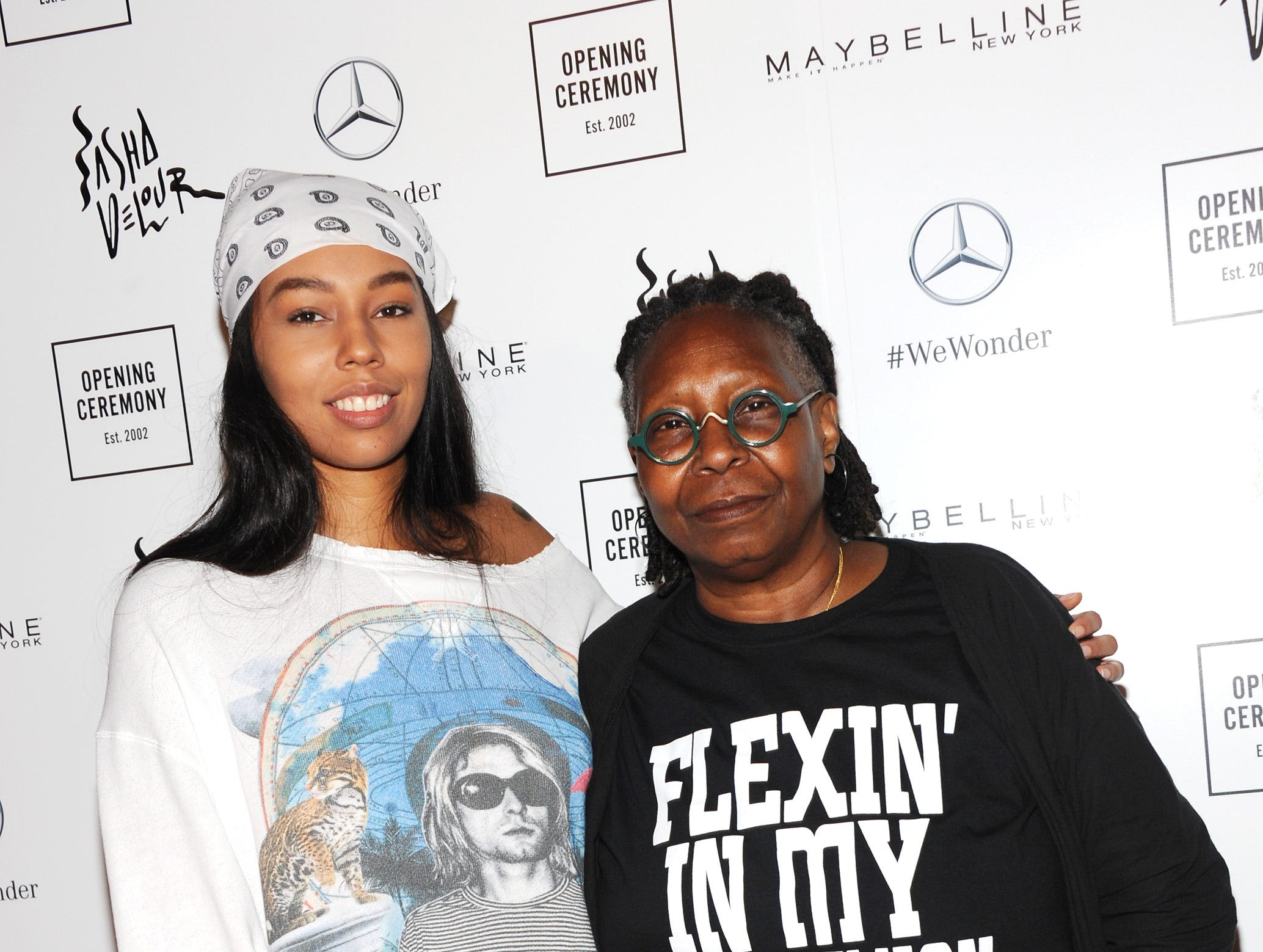 Whoopi Goldberg and her granddaughter Jerzey Dean attended the ceremony.