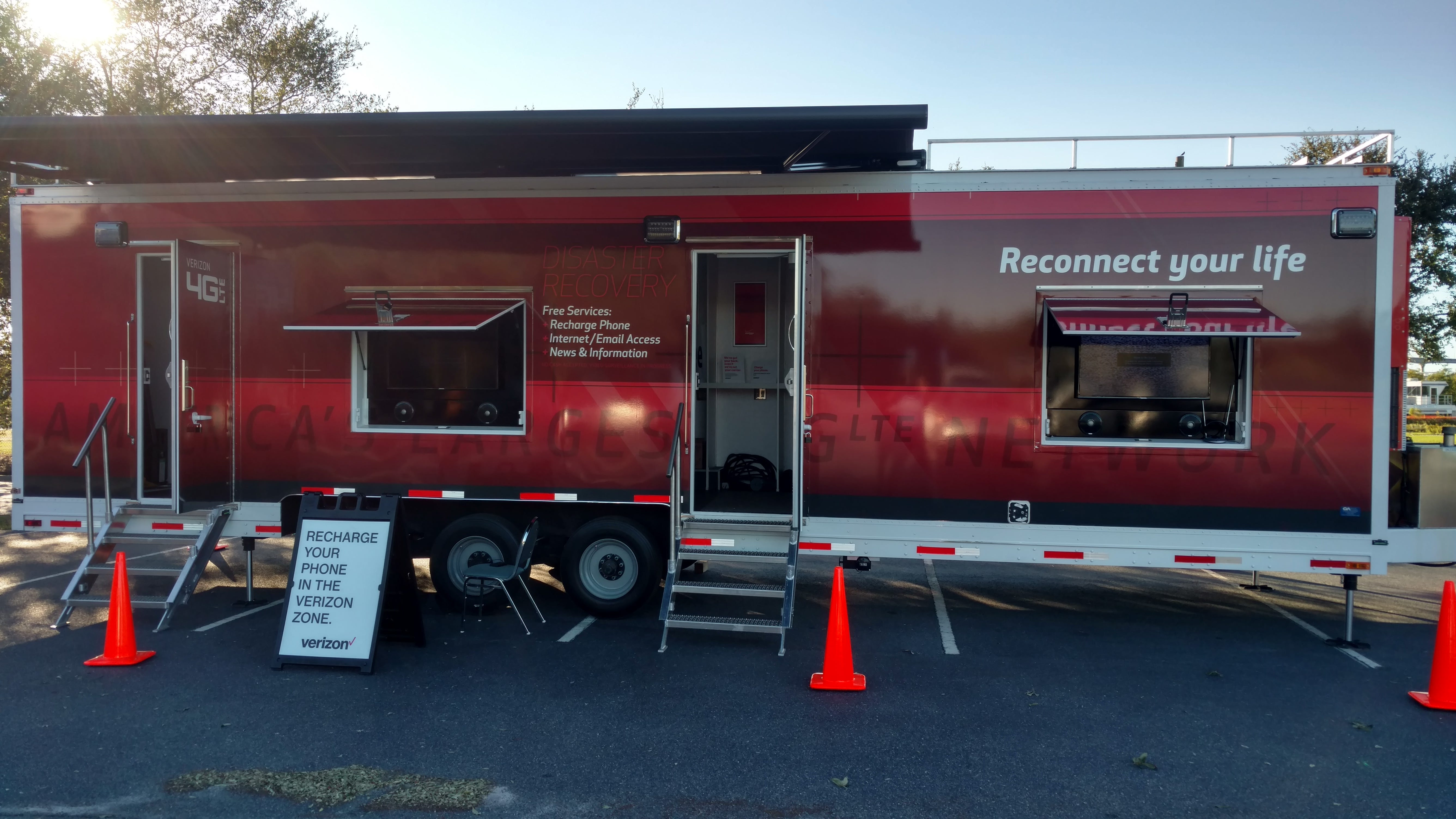 Verizon deploys WIreless Emergency Command Centers in the aftermath of disasters to help first responders and residents.