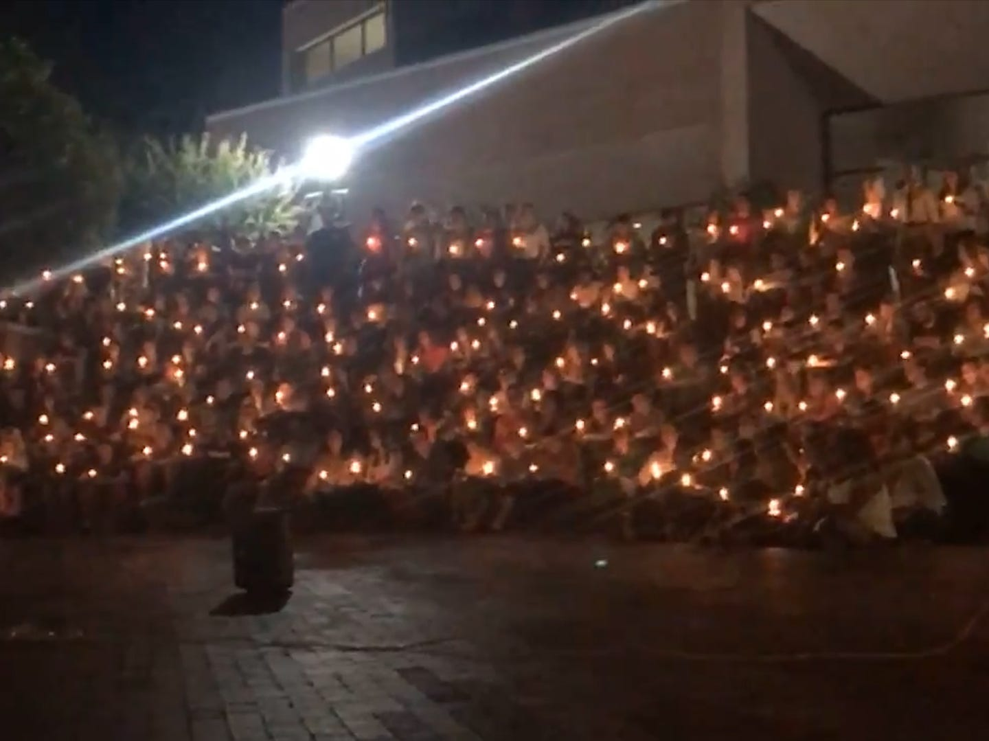 Students hold vigil for man shot by Texas police officer