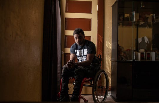 Antonio Mason was a student and basketball player at Cuyahoga Community College in Cleveland when he was paralyzed from the chest down by a drunk driver. He was denied compensation because when he was 16, he was convicted in juvenile court of drug trafficking.