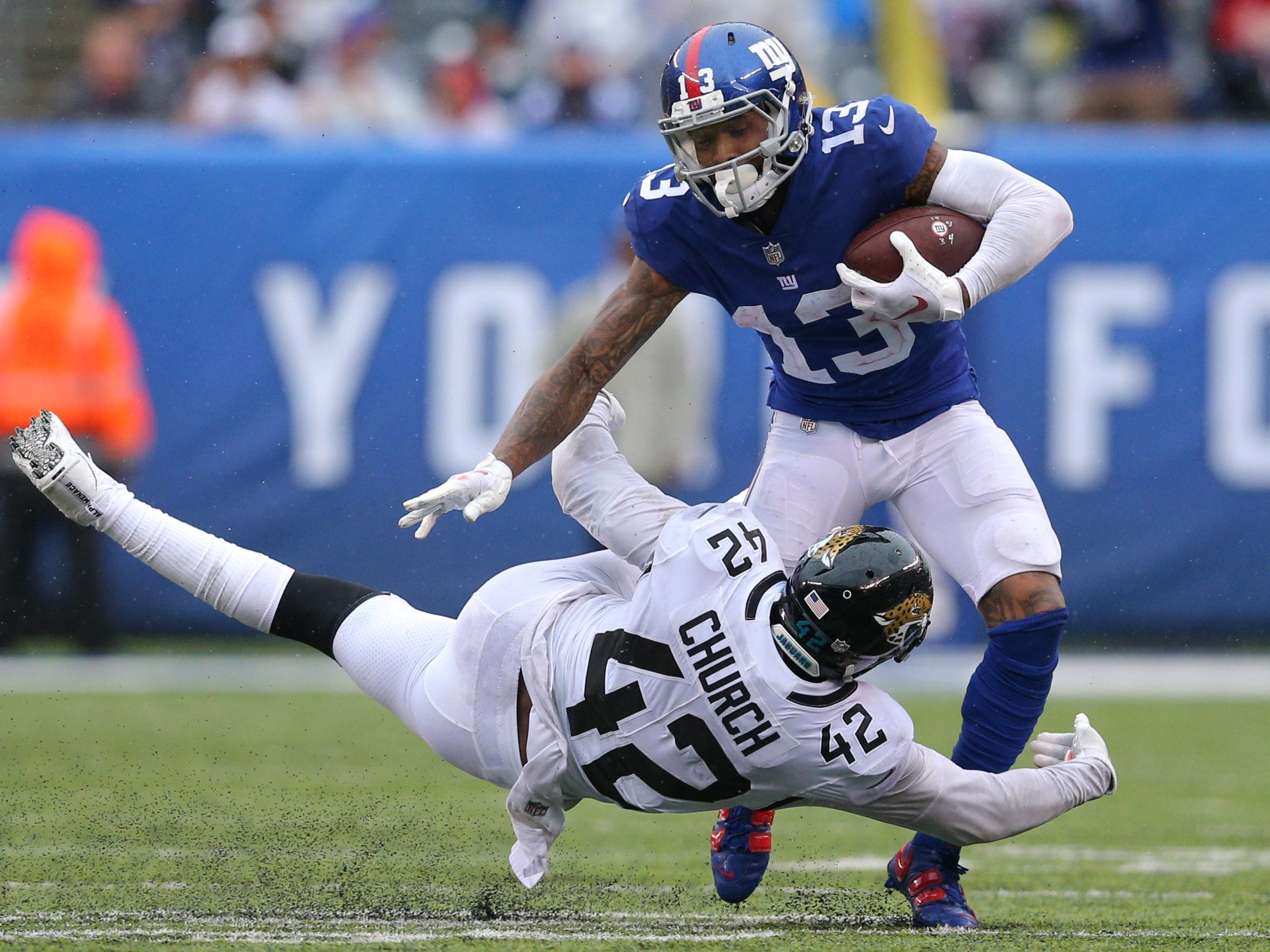 19. Giants (20): On one hand, Saquon Barkley and Odell Beckham combined for 238 yards ... on other hand, rest of offense combined for a mere 86 more.