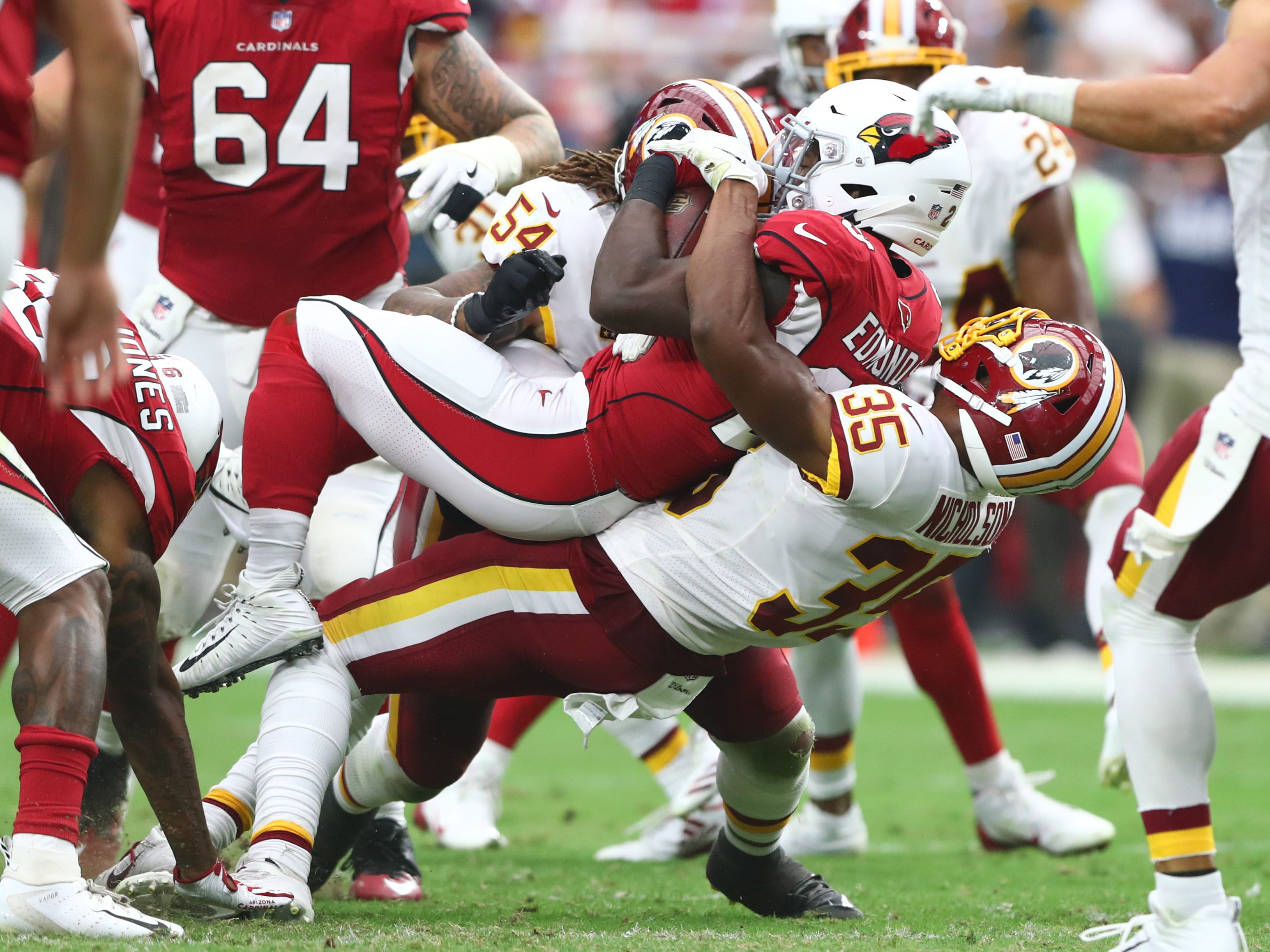 28. Cardinals (18): Preseason feeling like fool's gold as Arizona lost turnover battle and surrendered 429 yards (more than double what offense generated).