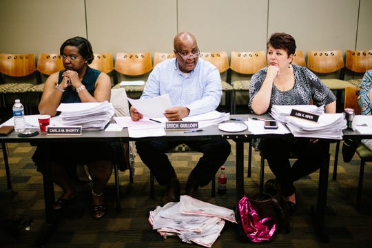 """Calcasieu Parish Sheriff's Office Chief Deputy Gary """"Stitch"""" Guillory listens during a May meeting of the Louisiana Crime Victims Reparations Board in Baton Rouge, Louisiana."""