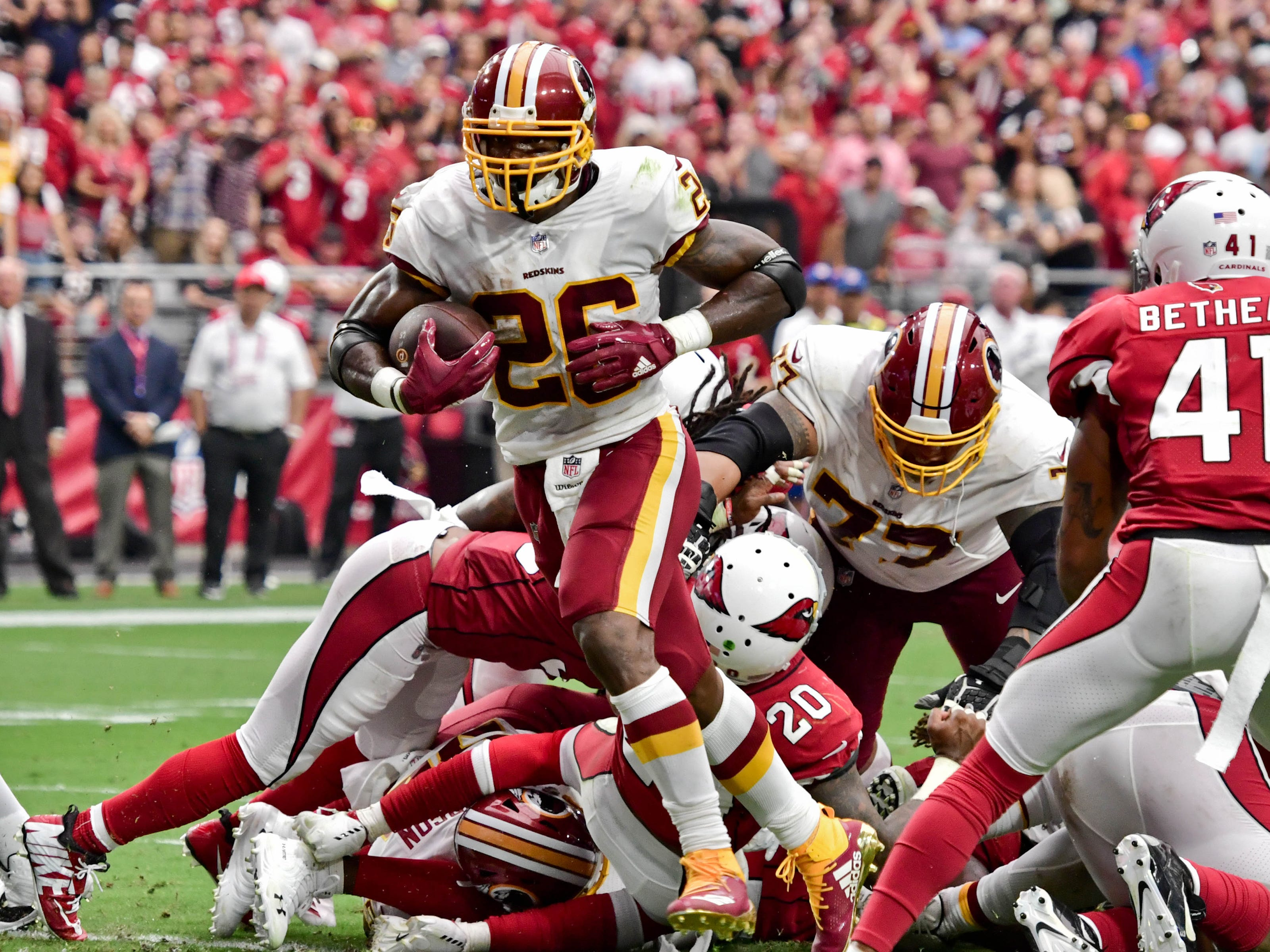 8. Redskins (12): Newbies Adrian Peterson, Alex Smith getting lots of pub. But don't sleep on ascendant defense that took jackhammer to Arizona's offense.
