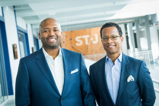 Craig Dixon, left, and Kendrick Ashton are co-founders of The St. James who met 24 years ago as classmates at the College of William & Mary.