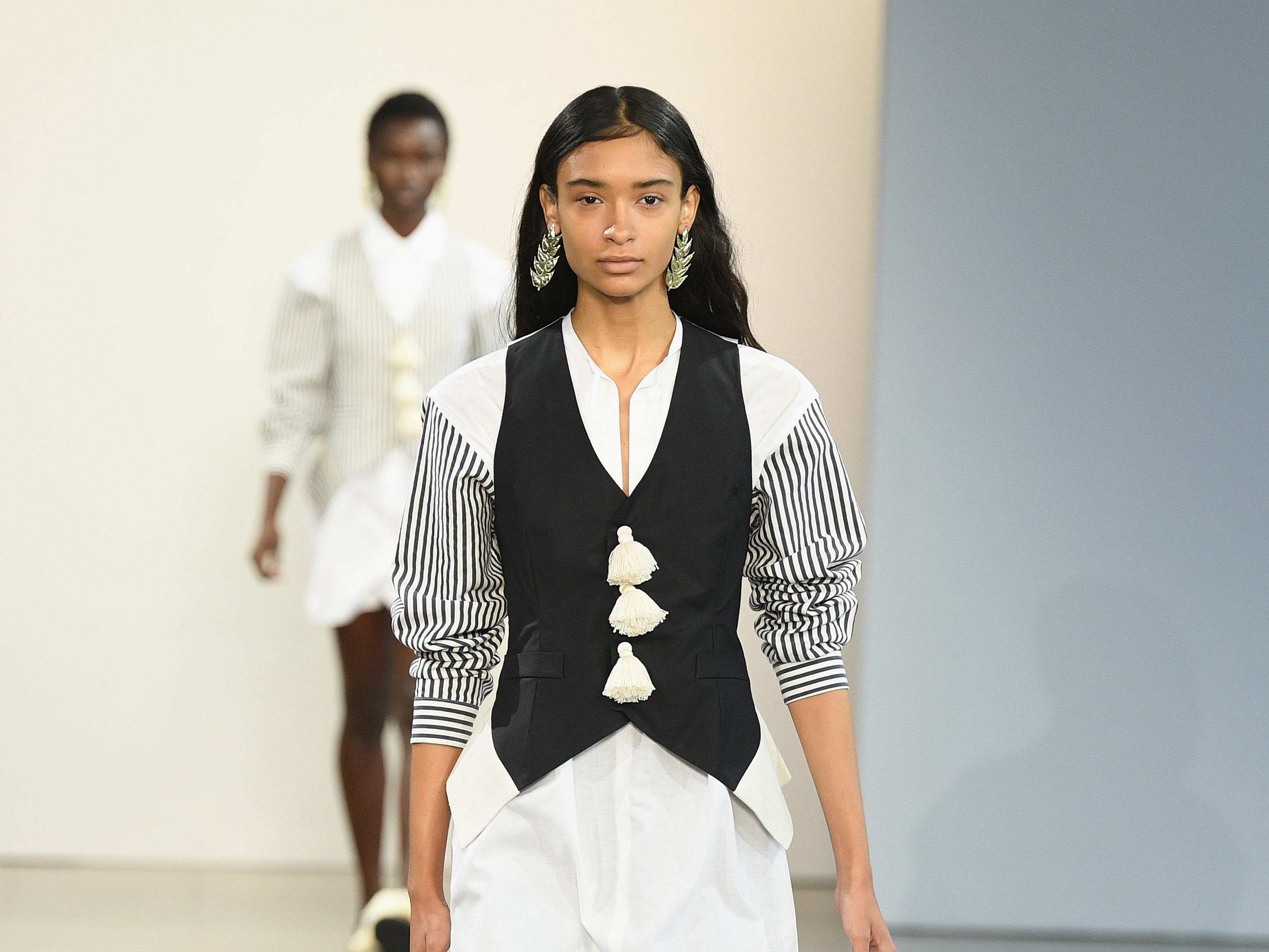 The Tome show gave us school girl vibes with vests and mixed patterns.