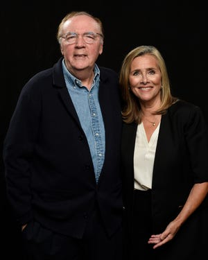 """Author James Patterson and Meredith Vieira, host of the PBS series """"The Great American Read."""""""
