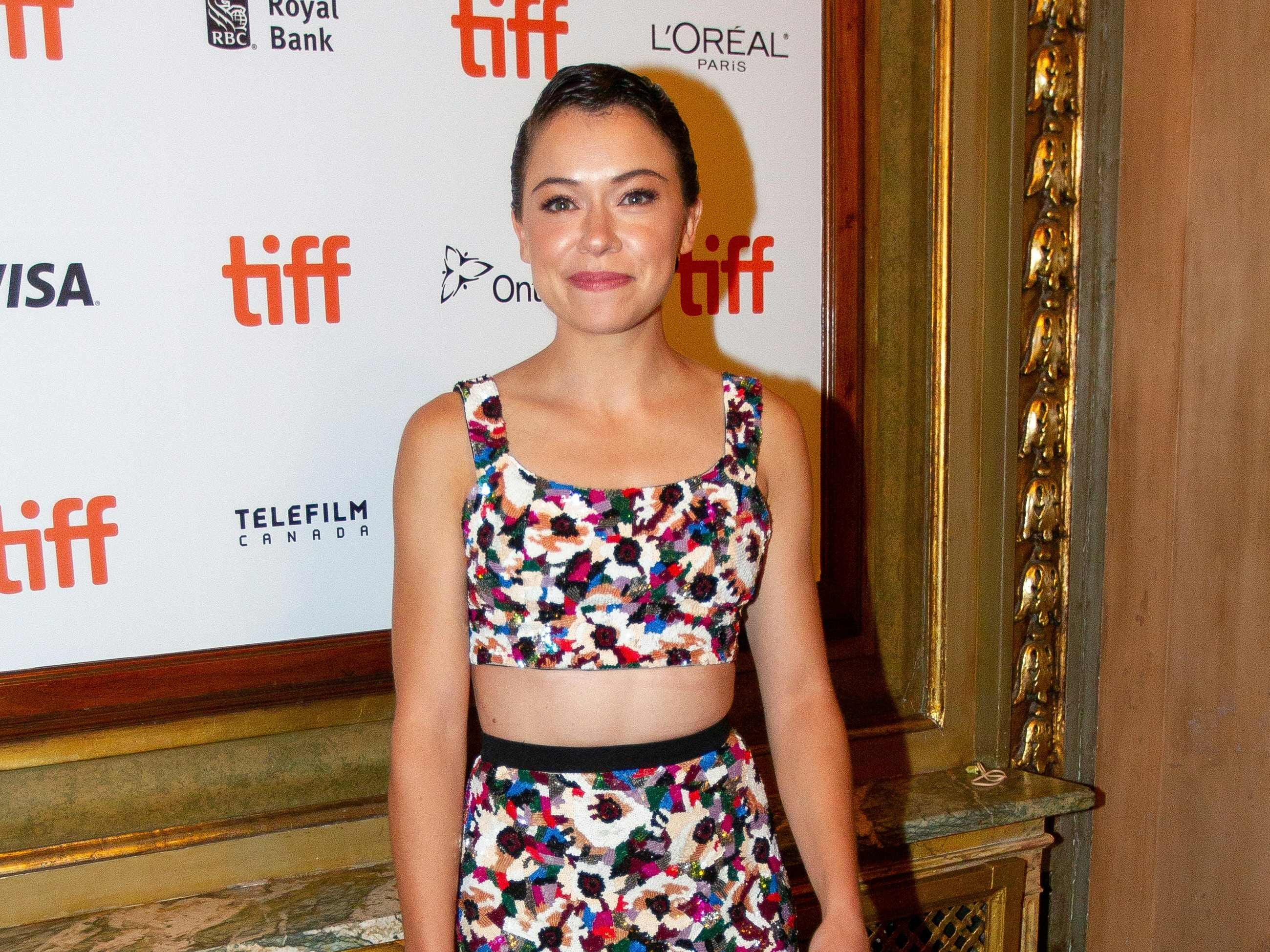 Canadian actress Tatiana Maslany attends the premiere of 'The Old Man and the Gun' at the Toronto International Film Festival in Toronto, Ontario, Canada on September 10, 2018. (Photo by Geoff Robins / AFP)GEOFF ROBINS/AFP/Getty Images ORG XMIT: Toronto i ORIG FILE ID: AFP_19042M