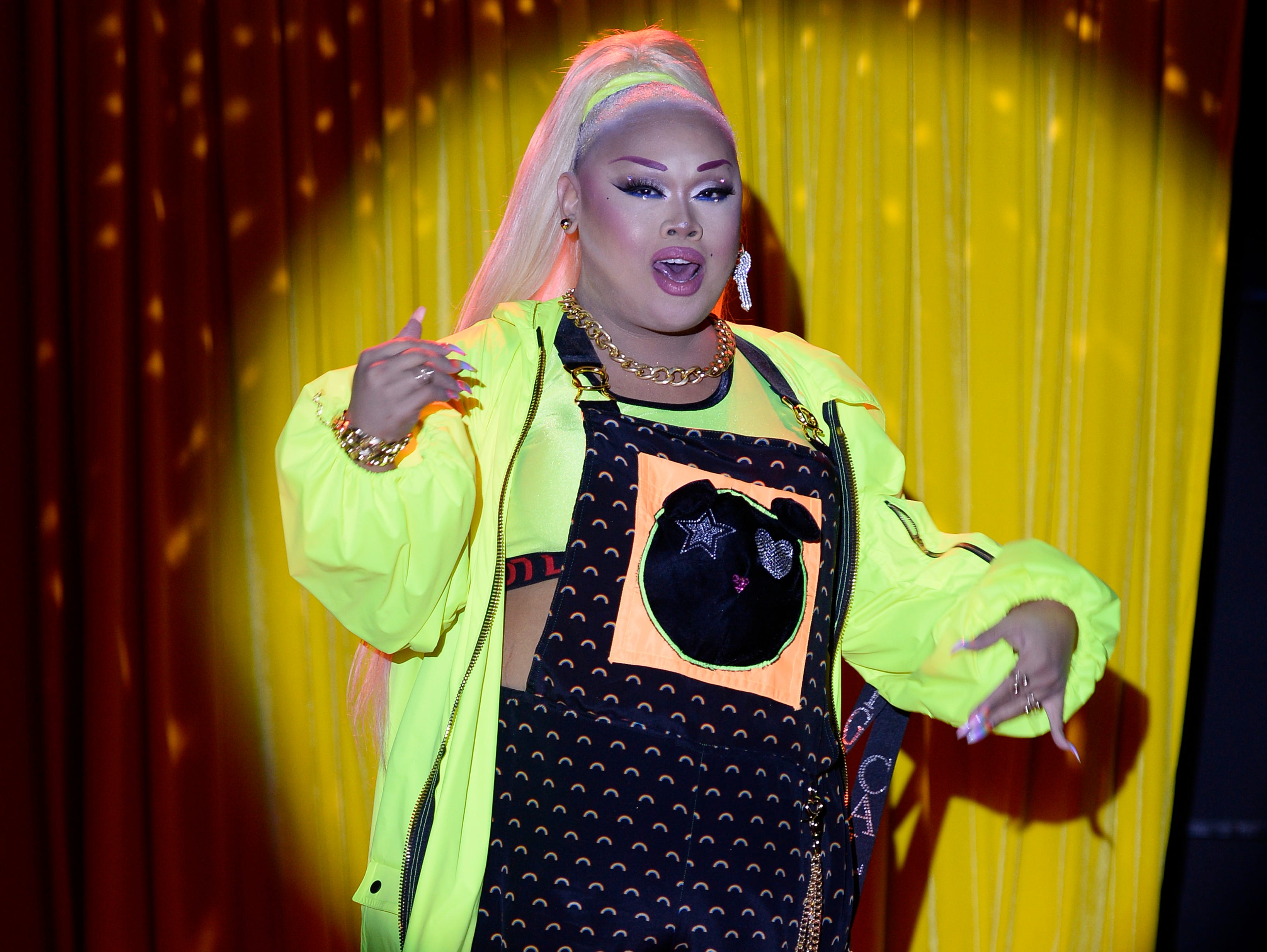 Jiggly Caliente also walked the runway.
