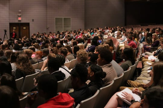 """About 400 freshmen participated in Pineville High School's """"Commitment to Commencement"""" ceremony."""