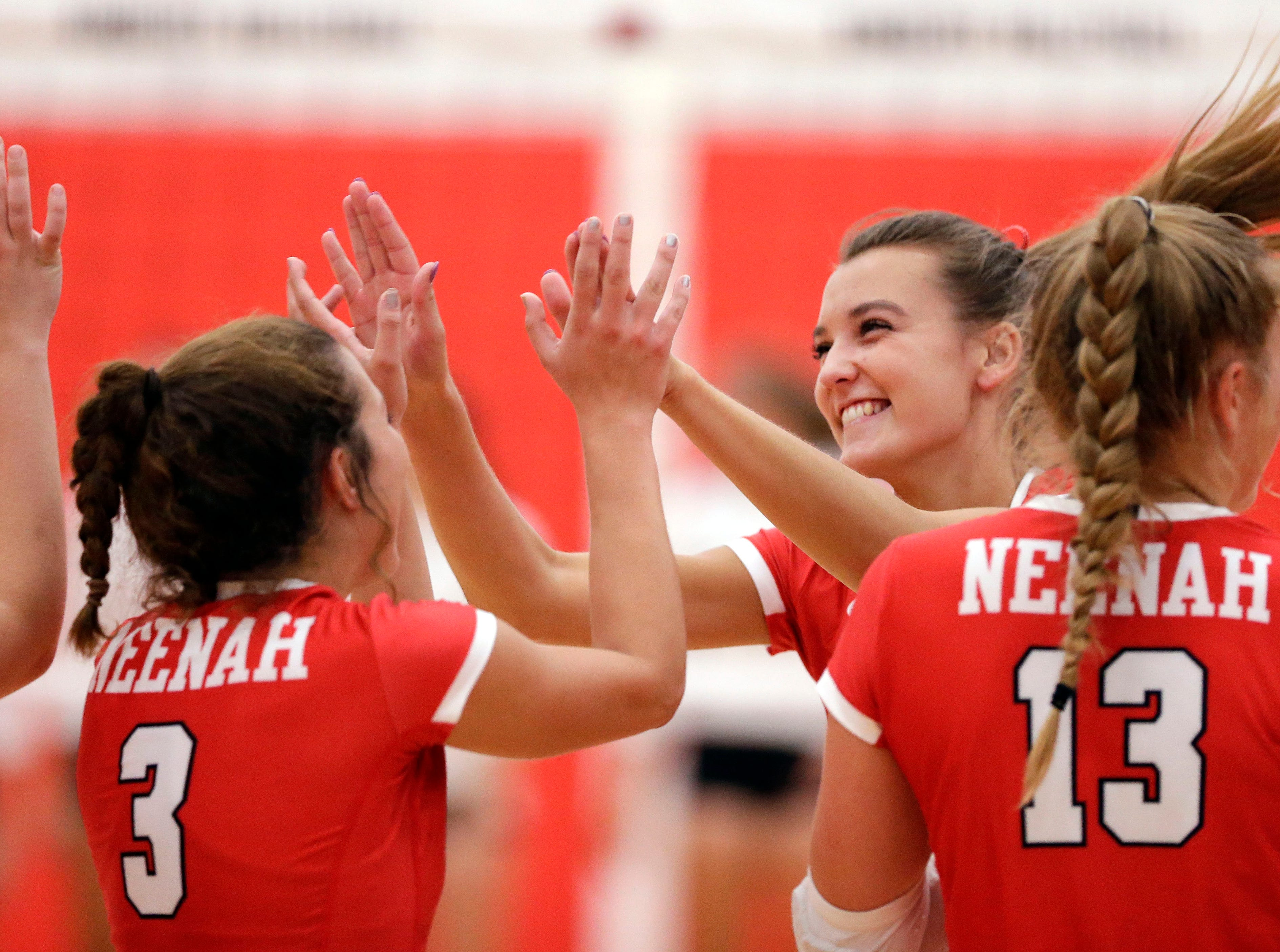 Addison Barnes of Neenah is introduced before the Rockets take on Kimberly in FVA girls volleyball Tuesday, September 11, 2018, at Kimberly High School in Kimberly, Wis.Ron Page/USA TODAY NETWORK-Wisconsin