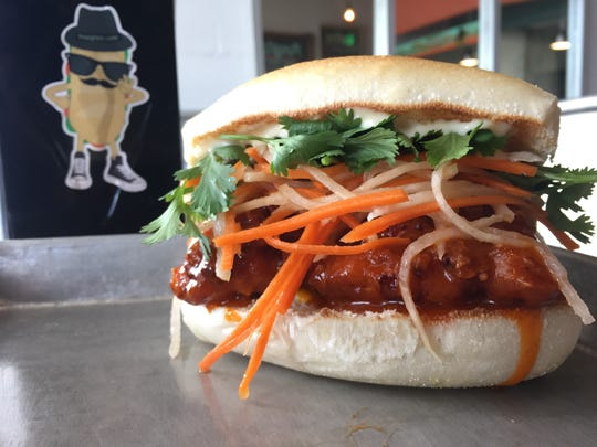 The Forbidden Chicken sandwich from Hoagitos in Belmar is made with a sweet-and-spicy glaze, carrot slaw and roasted garlic mayo.