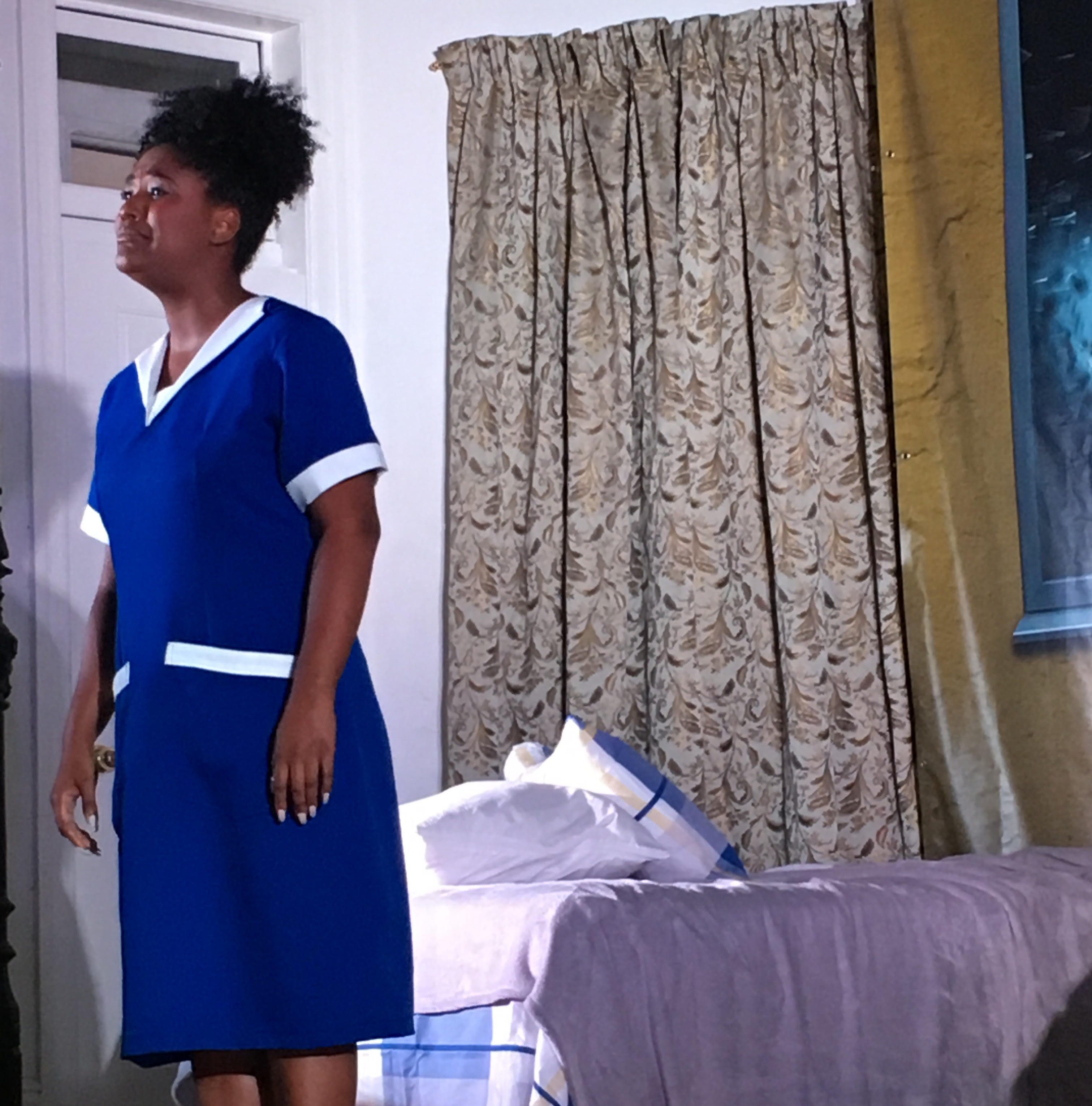 Alisha Taylor, an Abilene Christian University graduate, portrays a housekeeper at the Lorraine Motel in Memphis, Tennessee, who was working the day the Rev. Martin Luther King Jr. was assassinated there.