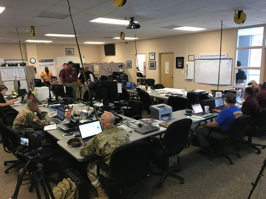 Gov. Roy Cooper visited the North Carolina Emergency Management Eastern Regional Coordinating Center in Kinston as officials prepared for Hurricane Florence.