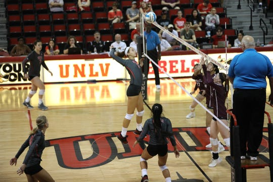 Freshman Kate Brennan, a Union-Endicott graduate, ranks third on UNLV  with 70 kills.