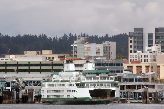 The WSF ferry Chimacum pulls into the Bremerton Terminal  on Wednesday, September 12, 2018.