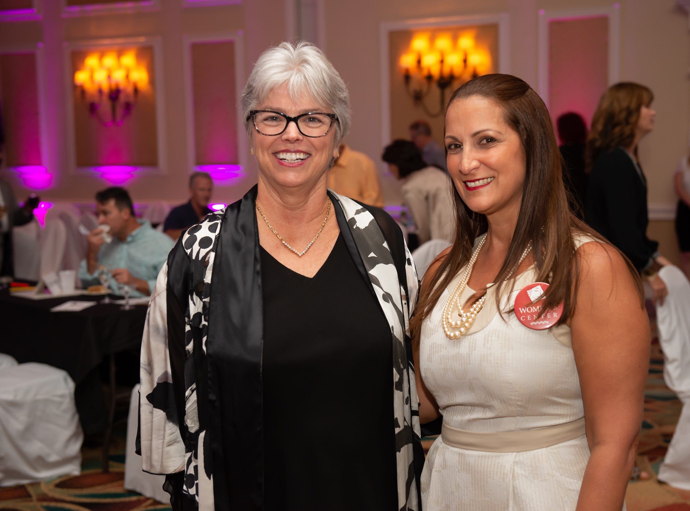 """Dr. Jenny Gessler and Dr. Jessica Calvo-Blando at """"Dude Looks Like a Lady"""" event benefitting the Women's Center."""
