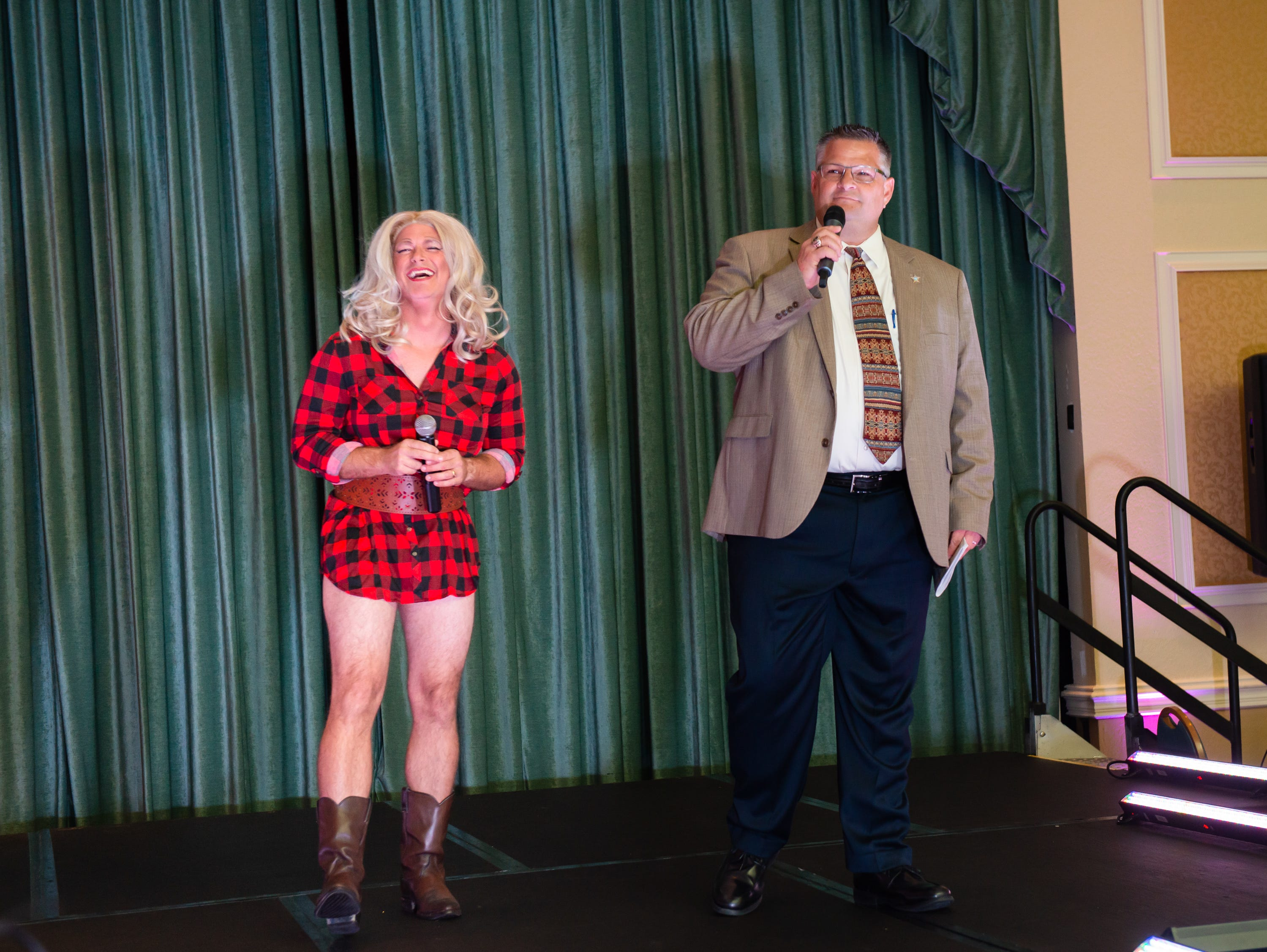 """Sheriff Wayne Ivey comments on Courtney Charvet's performance as Miranda Lambert at the """"Dude Looks Like a Lady"""" event benefitting the Women's Center."""