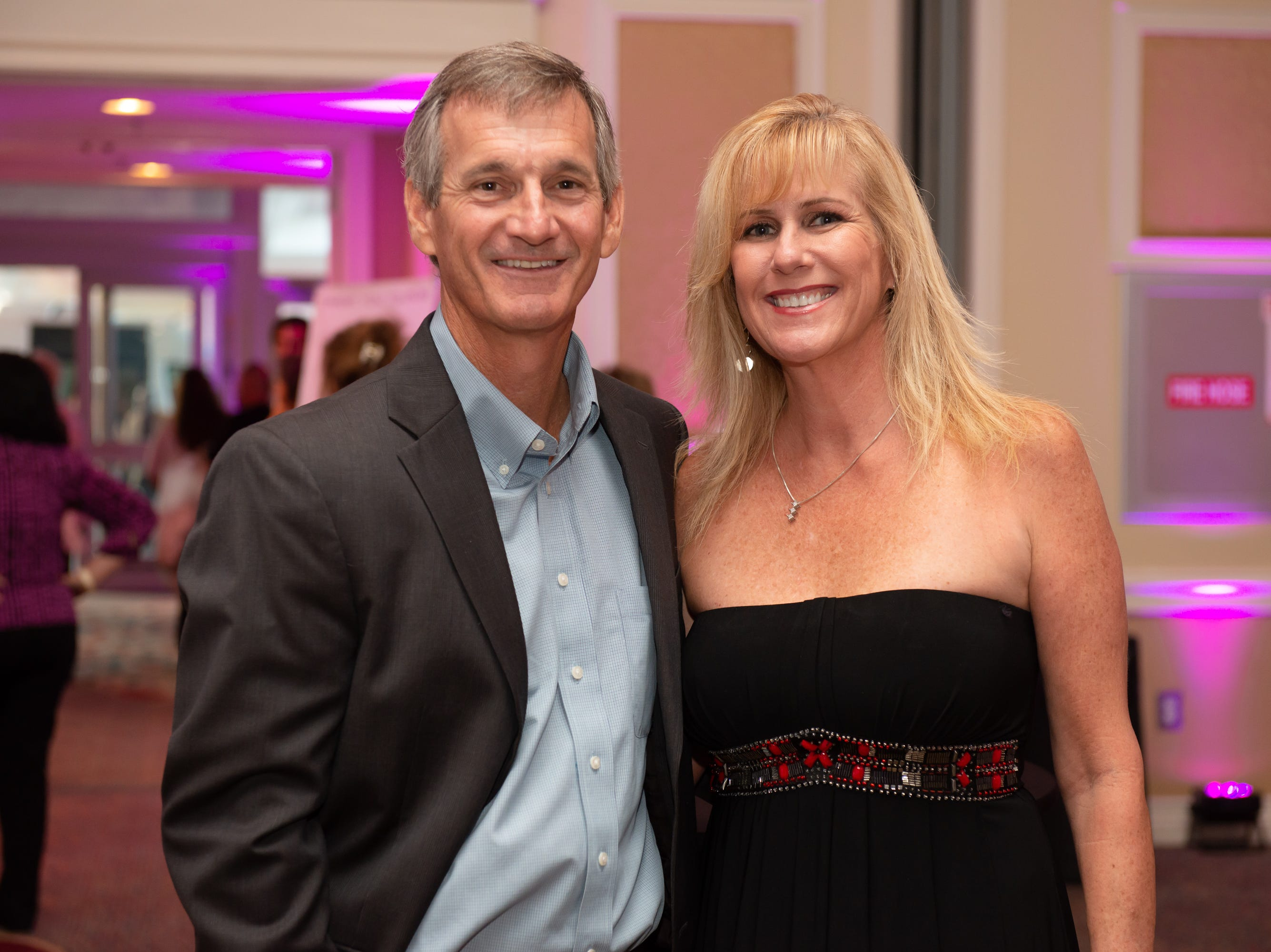 """Scott Molitor and Judy Tierney at """"Dude Looks Like a Lady"""" event benefitting the Women's Center."""
