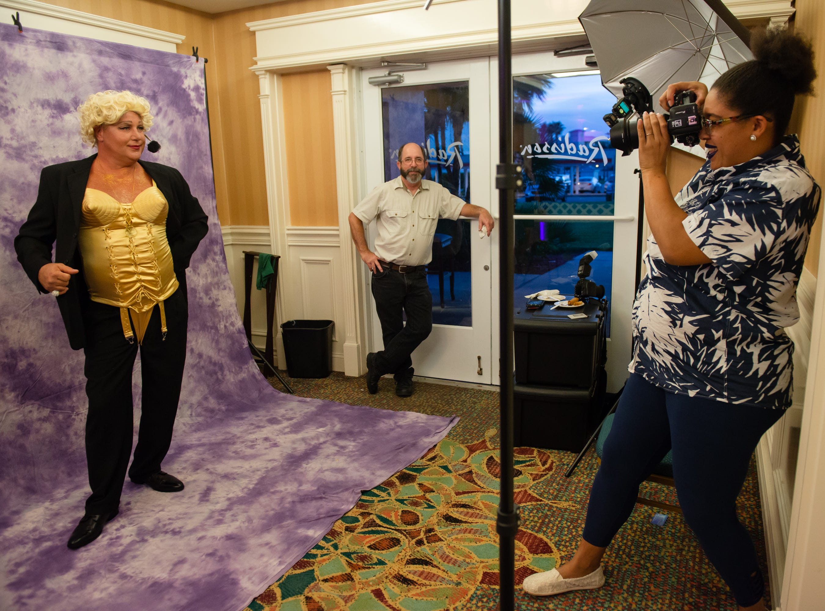 """Tim Dodg is photographed by Isabelle Bryant at """"Dude Looks Like a Lady"""" event benefitting the Women's Center."""