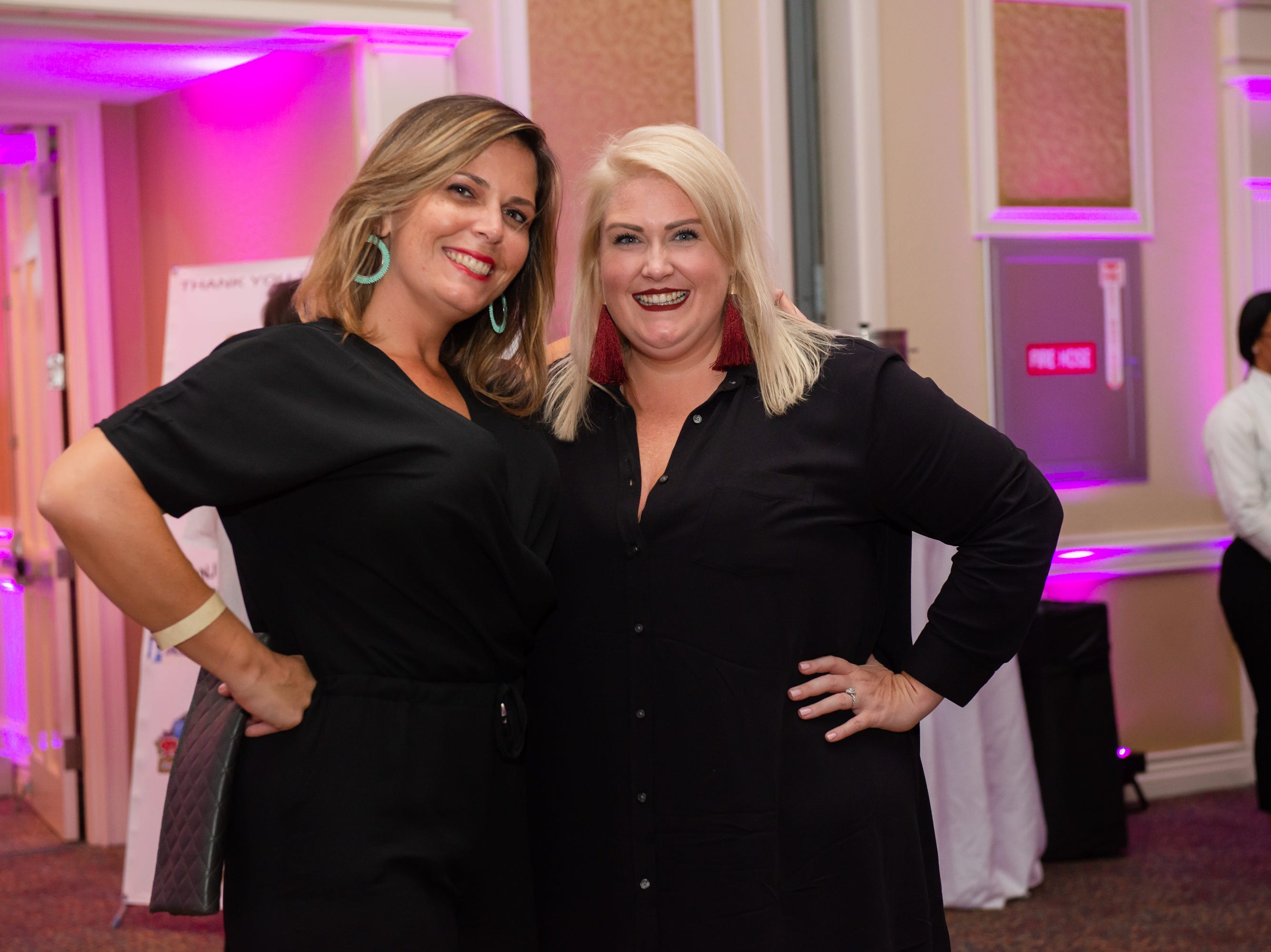 """Haley Thomspon and Chelsee Camero at """"Dude Looks Like a Lady"""" event benefitting the Women's Center."""
