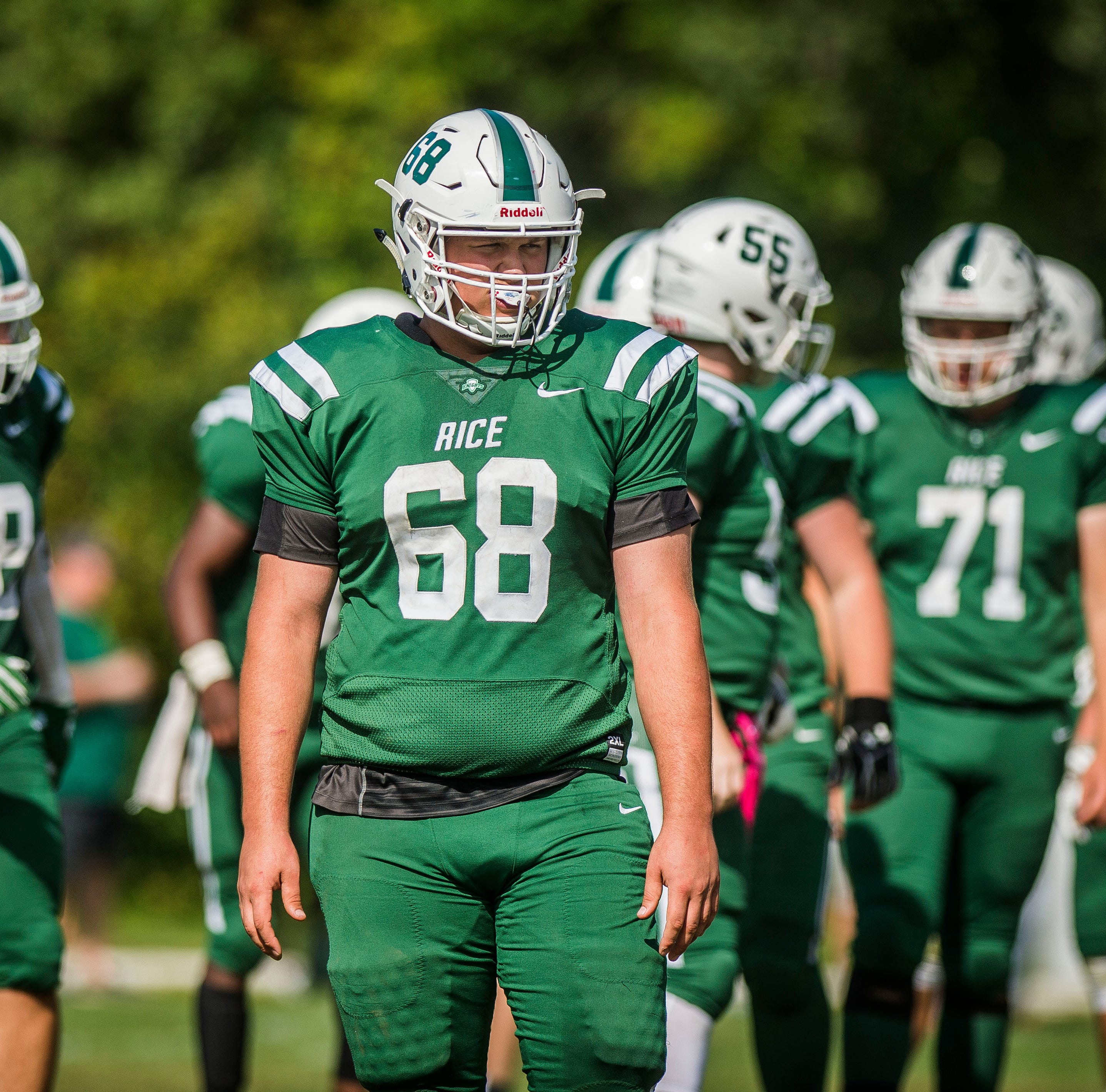 Vermont high school football: Imposing linemen anchor Rice's defense