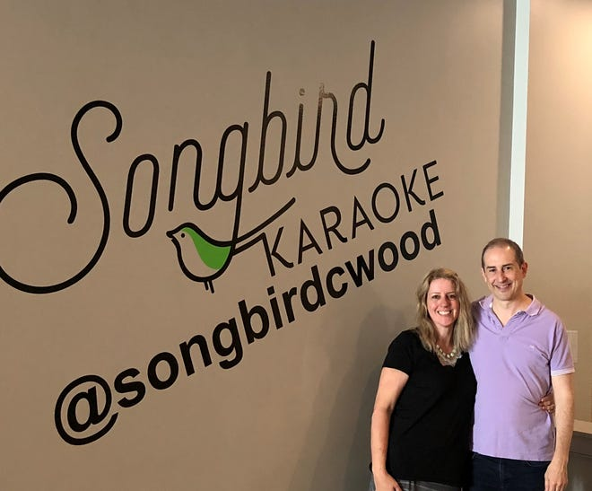Ronnie and Michael Schmeltzer, the owners of Collingswood's Songbird Karaoke, are celebrating their first year in business.