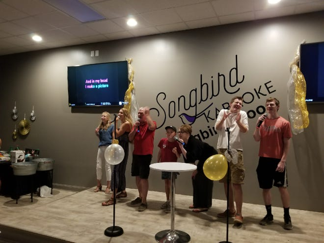 The 50-person party room accommodated a recent graduation bash at Songbird Karaoke in Collingswood.