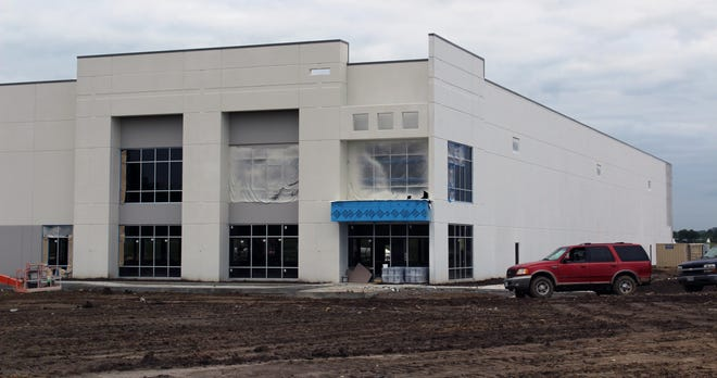 Construction continues at a new industrial park on Seward Road in Fairfield Township.