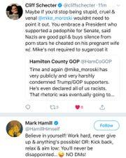 "Tweet ""liked"" by Star Wars' Mark Hamill."