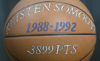 Kristen Somogyi is the state's all-time scoring leader in boys and girls basketball