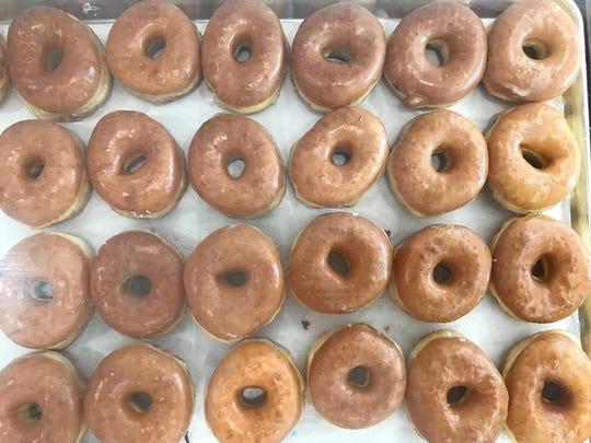Glazed doughnuts from ChuChu Donuts.