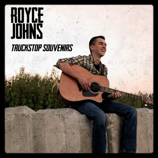 """Album artwork for """"Truckstop Souvenirs,"""" a self-released album from Iowa country artist Royce Johns."""