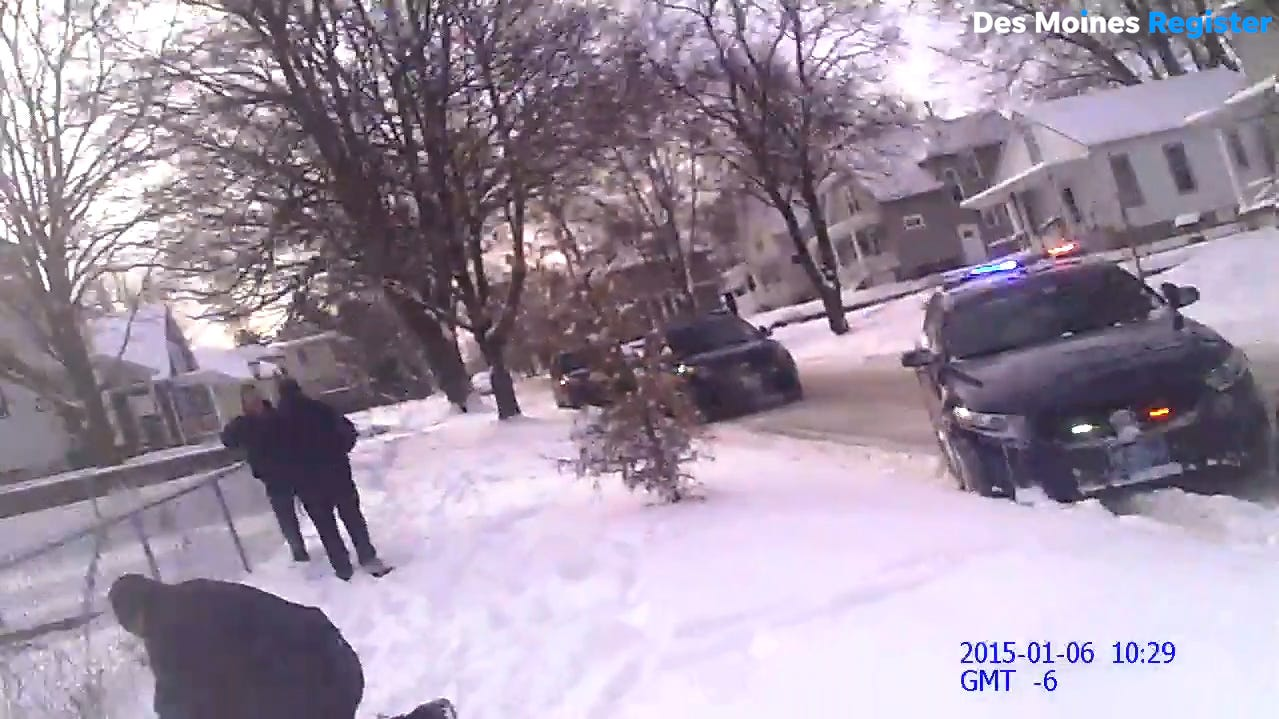Full-length police video: Iowa officer's body camera shows him fatally shooting a young mom
