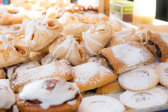 Assorted pastries from Strudl Haus.