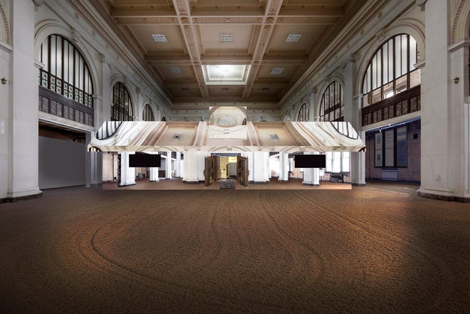 """The interior of the State Savings Bank building,  located 151 West Fort St., will host site-specific art installation """"Mirage Detroit."""""""