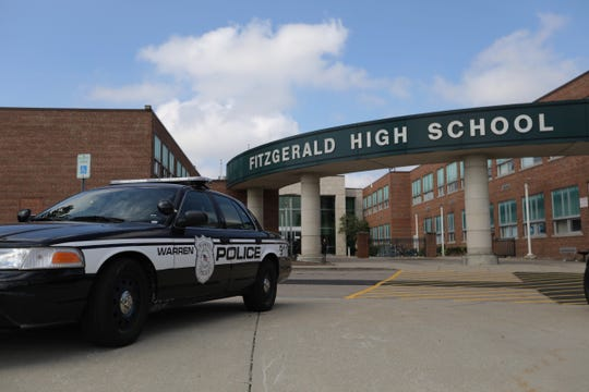 A fatal stabbing closed Fitzgerald High School in Warren, Michigan, on Wednesday, Sept. 12, 2018.