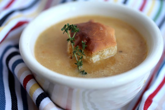 Caramelized Onion Soup with Apples and Sweet Potatoes