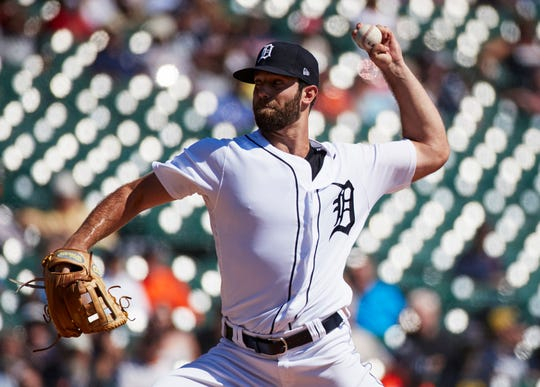 Tigers pitcher Daniel Norris pitches in the second inning on Wednesday, Sept. 12, 2018, at Comerica Park.