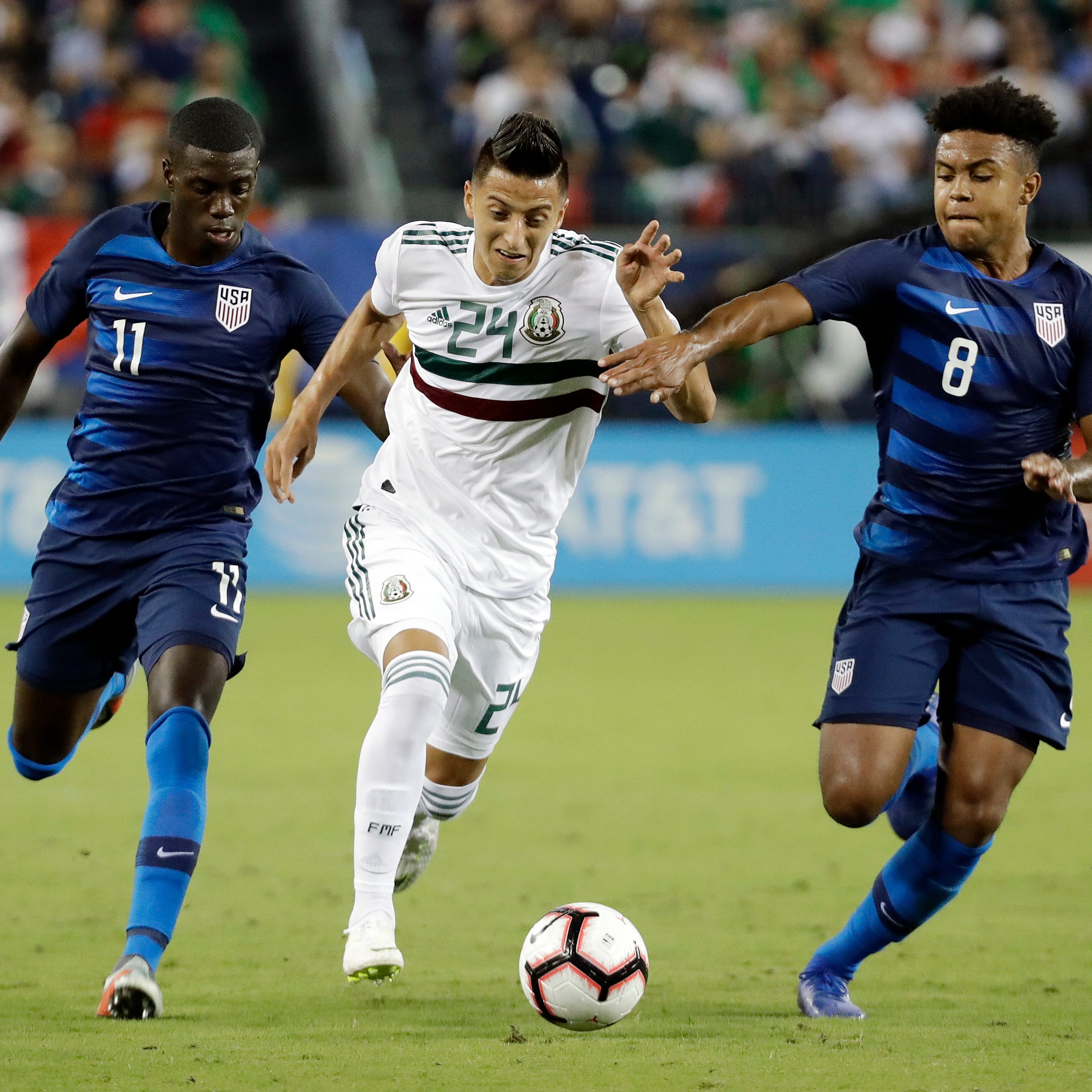 Adams' goal pushes U.S. past Mexico in feisty match