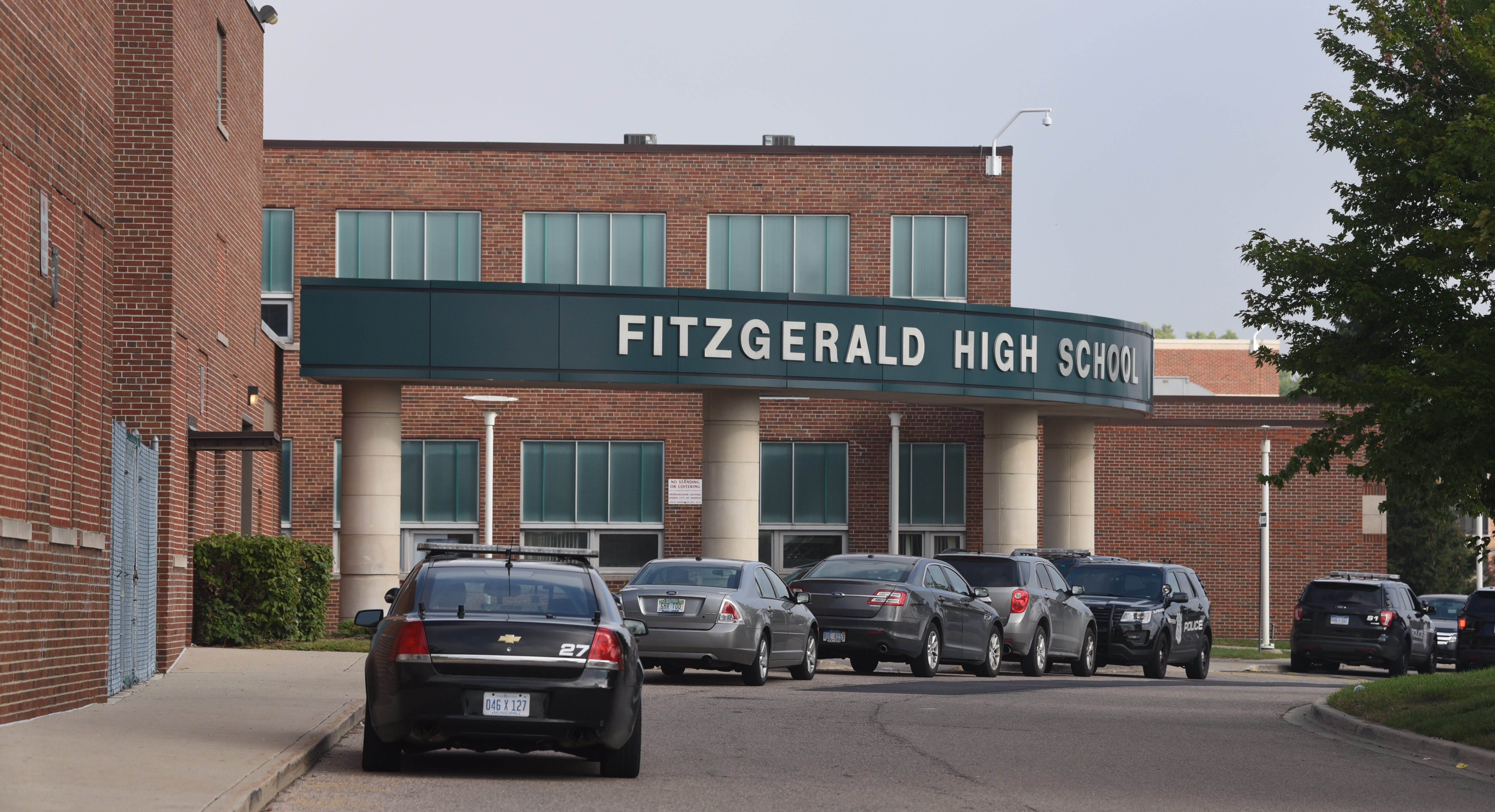 Police are at Fitzgerald High School in Warren after a 16-year-old girl was stabbed in an apparent fight on Sept. 12, 2018