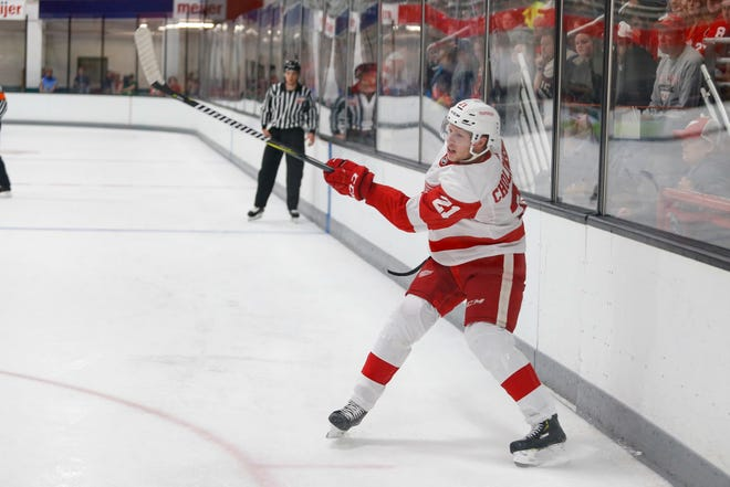 Red Wings defenseman Dennis Cholowski continues to impress in the early going.