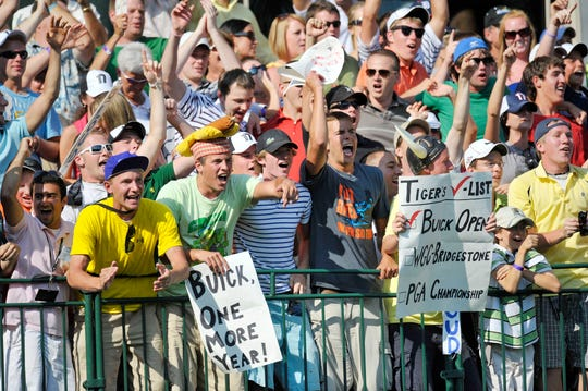 The rowdy 17th hole at the Buick Open was a favorite among the players.