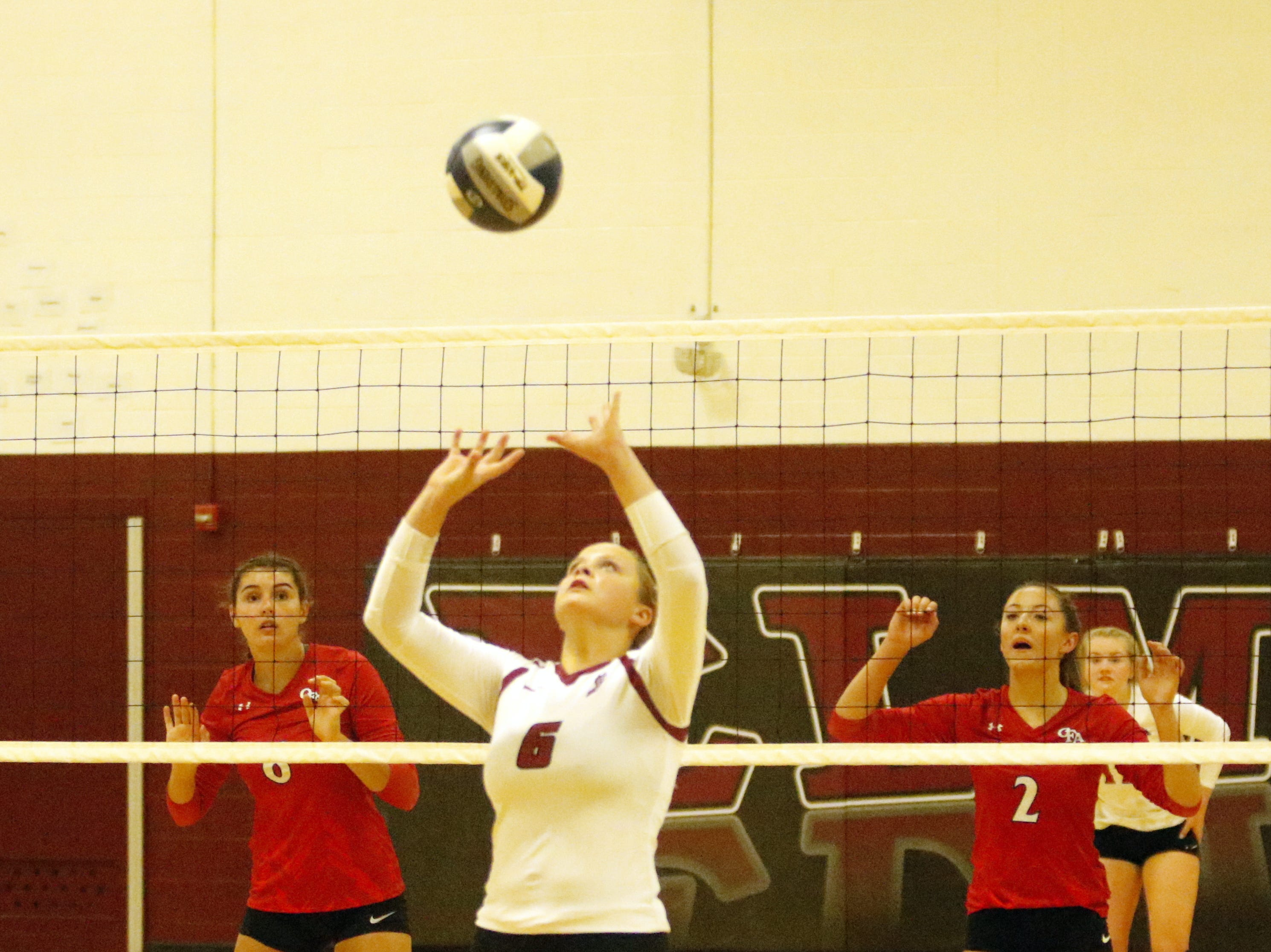 Owego was a 3-0 winner over Elmira in volleyball Sept. 11, 2018 at Elmira High School.