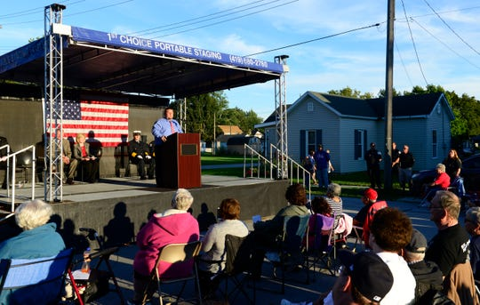 The Village of Gibsonburg mayor Steve Fought remembers those who died in the Sept. 11, 2001 terrorist attack.