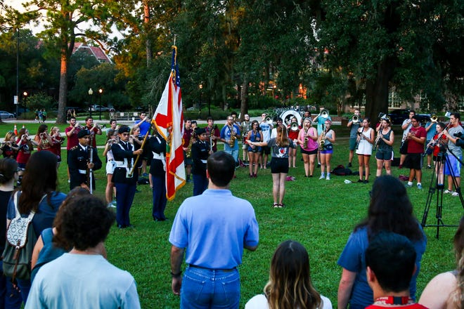 FSU's Students for America's Military (SAM) held a memorial on Landis Green in honor of the 17th anniversary of 9/11.