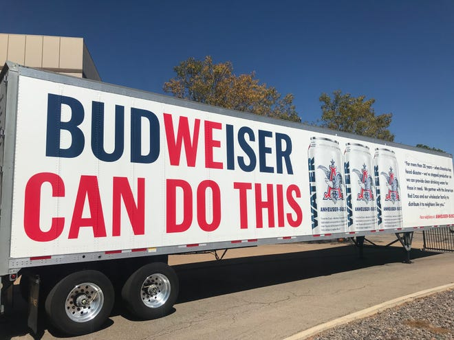The Fort Collins Anheuser-Busch brewery can now produce cans of drinking water for emergencies. They are the second of a dozen breweries run by the Budweiser parent company with water canning capabilities.
