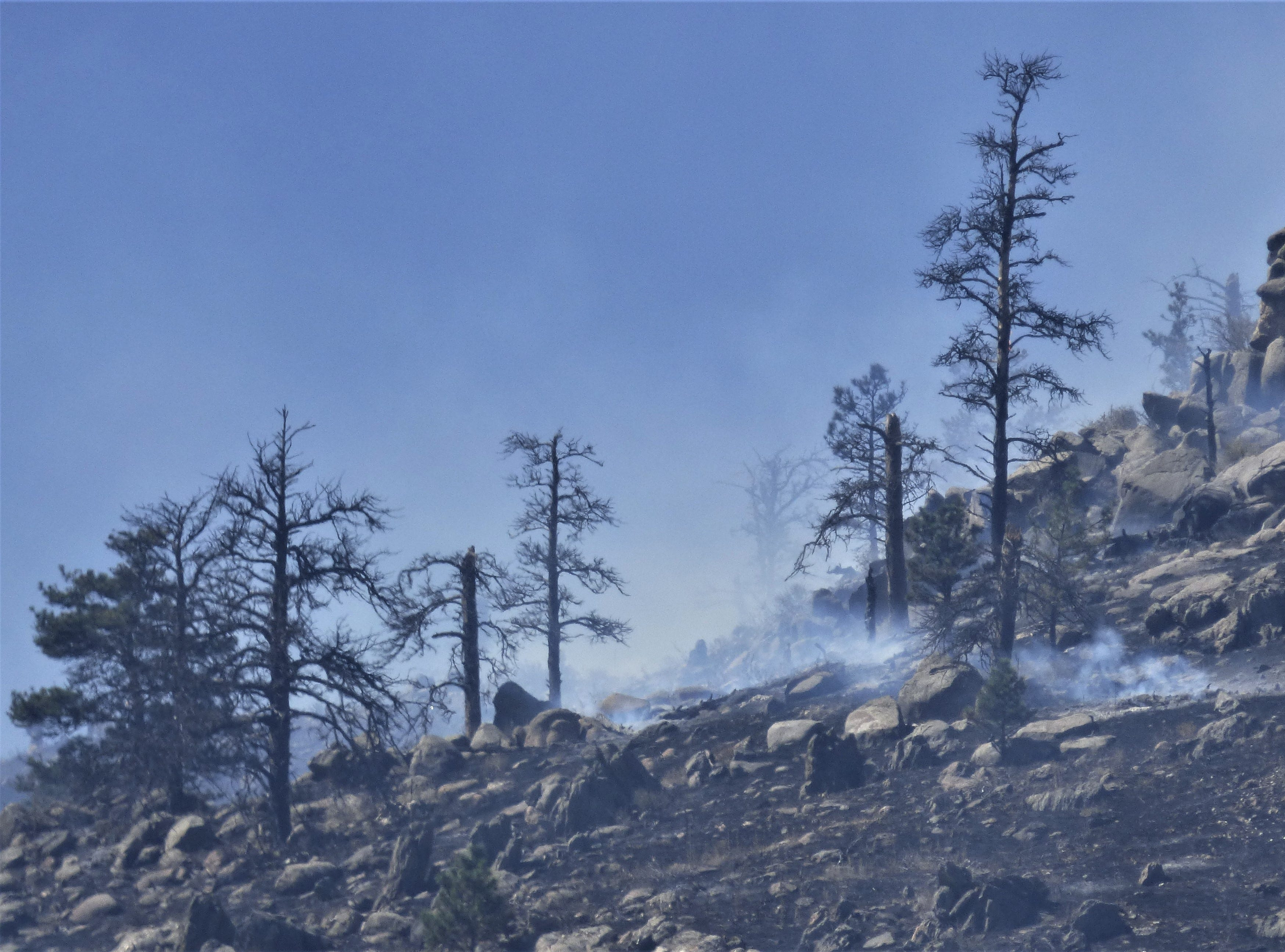 Reader Kristen Peterson, who lives near the Seaman Fire, provided this photo of the fire.