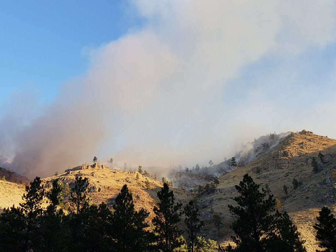 A view of the Seaman Fire